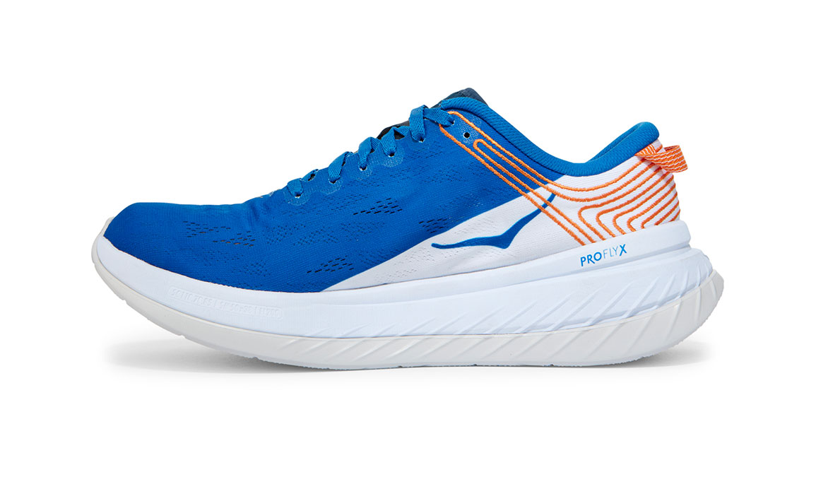 Men's Hoka One One Carbon X Running Shoe - Color: Imperial Blue/White (Regular Width) - Size: 7, Imperial Blue/White, large, image 4