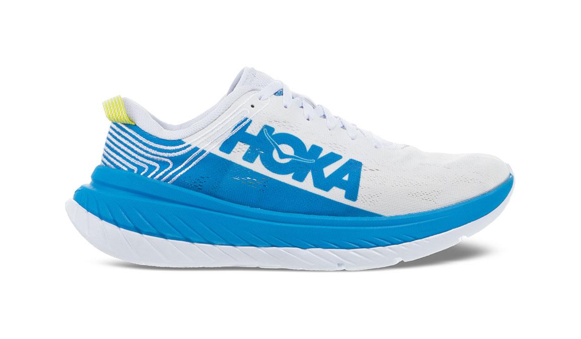 Men's Hoka One One Carbon X Running Shoe - Color: White/Dresden Blue (Regular Width) - Size: 14, White/Dresden Blue, large, image 1