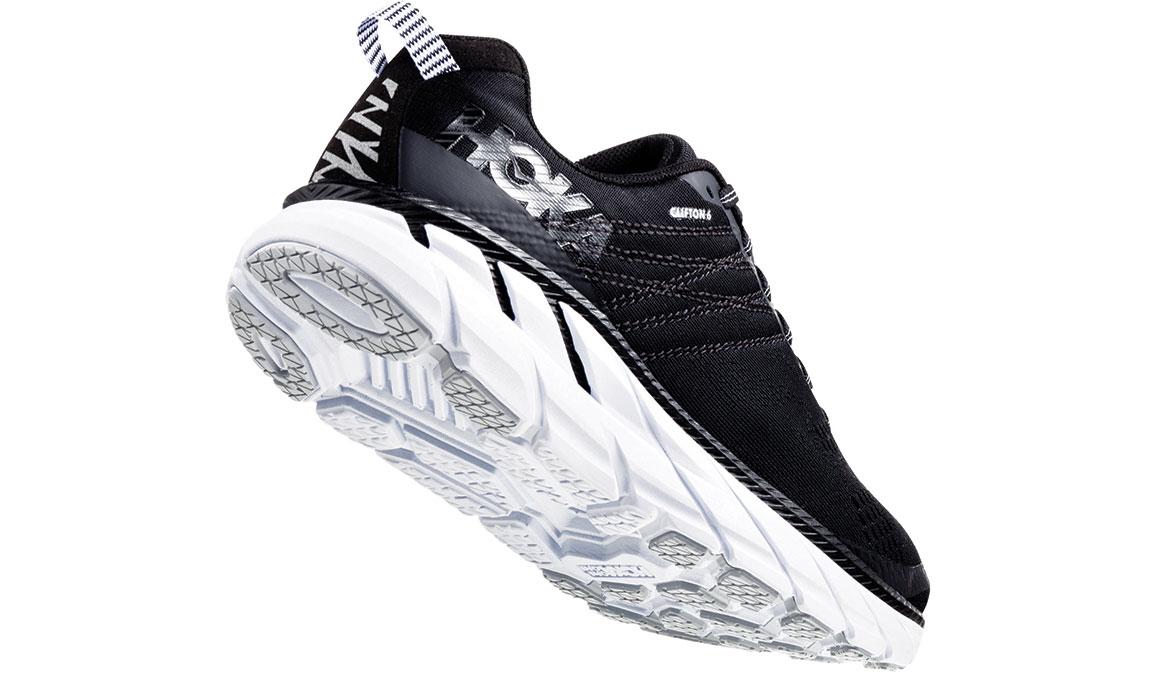 Men's Hoka One One Clifton 6 Running Shoe - Color: Black/White (Regular Width) - Size: 9, Black/White, large, image 3