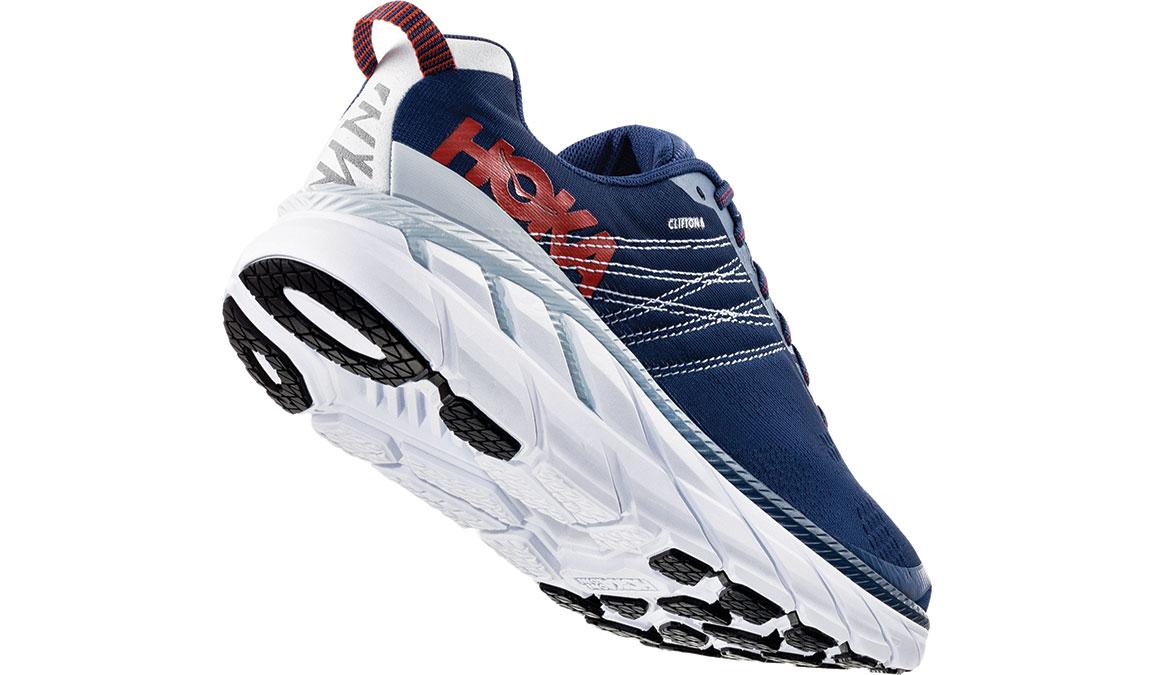 Men's Hoka One One Clifton 6 Running Shoe - Color: Ensign Blue/Plein Air (Regular Width) - Size: 8.5, Ensign Blue/Plein Air, large, image 3