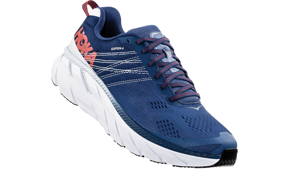 Men's Hoka One One Clifton 6 Running Shoe - Color: Ensign Blue/Plein Air (Regular Width) - Size: 8.5, Ensign Blue/Plein Air, large, image 2