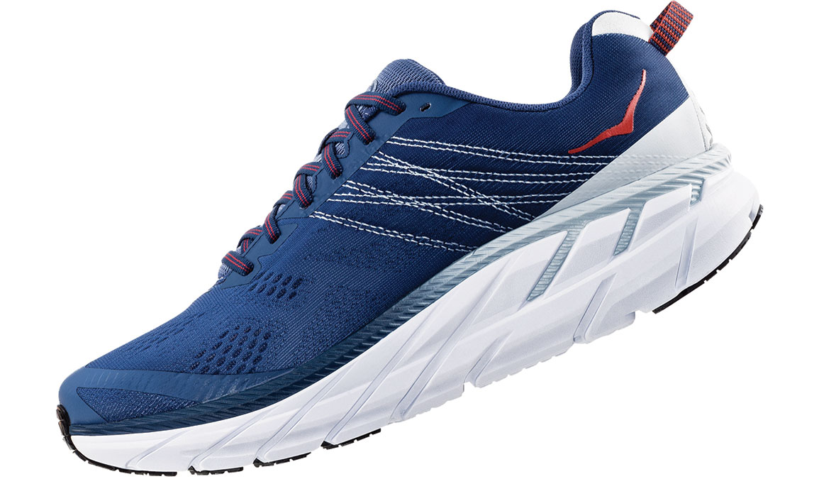 Men's Hoka One One Clifton 6 Running Shoe - Color: Ensign Blue/Plein Air (Regular Width) - Size: 8.5, Ensign Blue/Plein Air, large, image 4