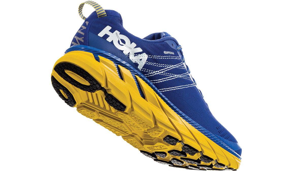 Men's Hoka One One Clifton 6 Running Shoe - Color: Nebulas Blue/Lemon (Wide Width) - Size: 13, Nebulas Blue/Lemon, large, image 3