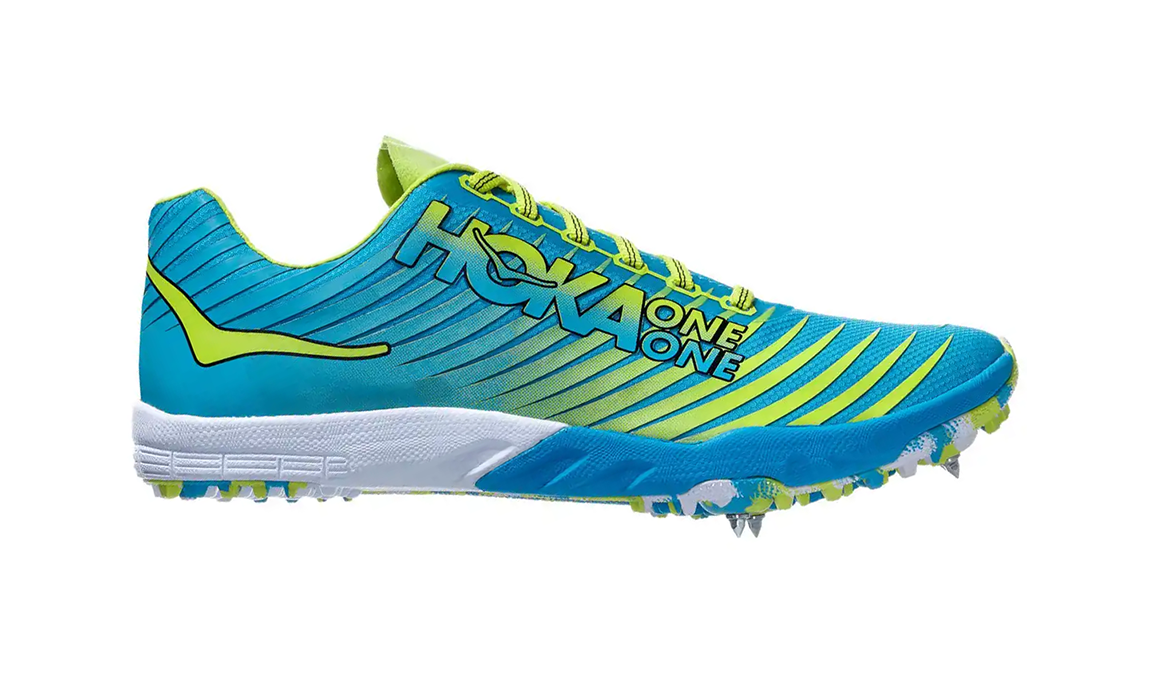 Men's Hoka One One Evo Xc Spike  - Color: Cyan/Citrus (Regular Width) - Size: 10, Cyan/Citrus, large, image 1