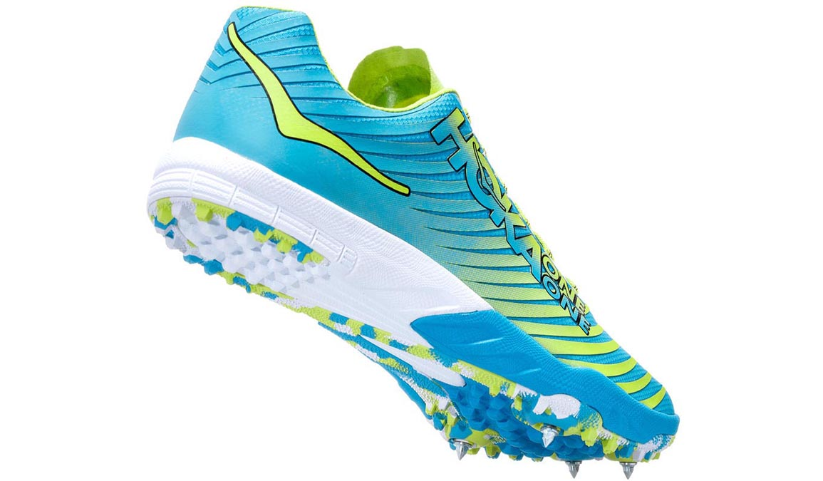 Men's Hoka One One Evo Xc Spike  - Color: Cyan/Citrus (Regular Width) - Size: 10, Cyan/Citrus, large, image 3