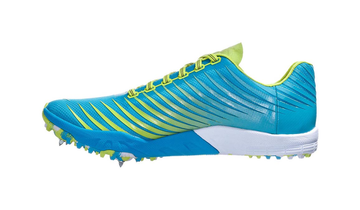 Men's Hoka One One Evo Xc Spike  - Color: Cyan/Citrus (Regular Width) - Size: 10, Cyan/Citrus, large, image 4