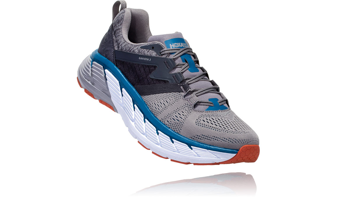 Men's Hoka One One Gaviota 2 Running Shoe - Color: Frost Grey/Seaport (Regular Width) - Size: 8.5, Frost Grey/Seaport, large, image 2