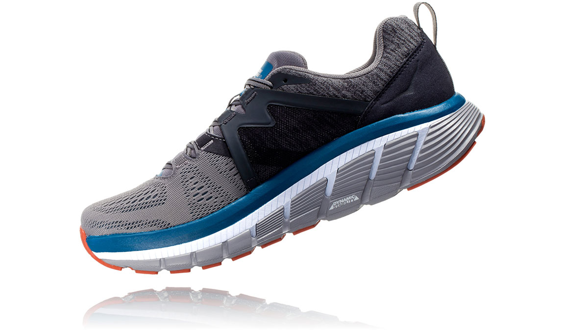 Men's Hoka One One Gaviota 2 Running Shoe - Color: Frost Grey/Seaport (Regular Width) - Size: 8.5, Frost Grey/Seaport, large, image 4
