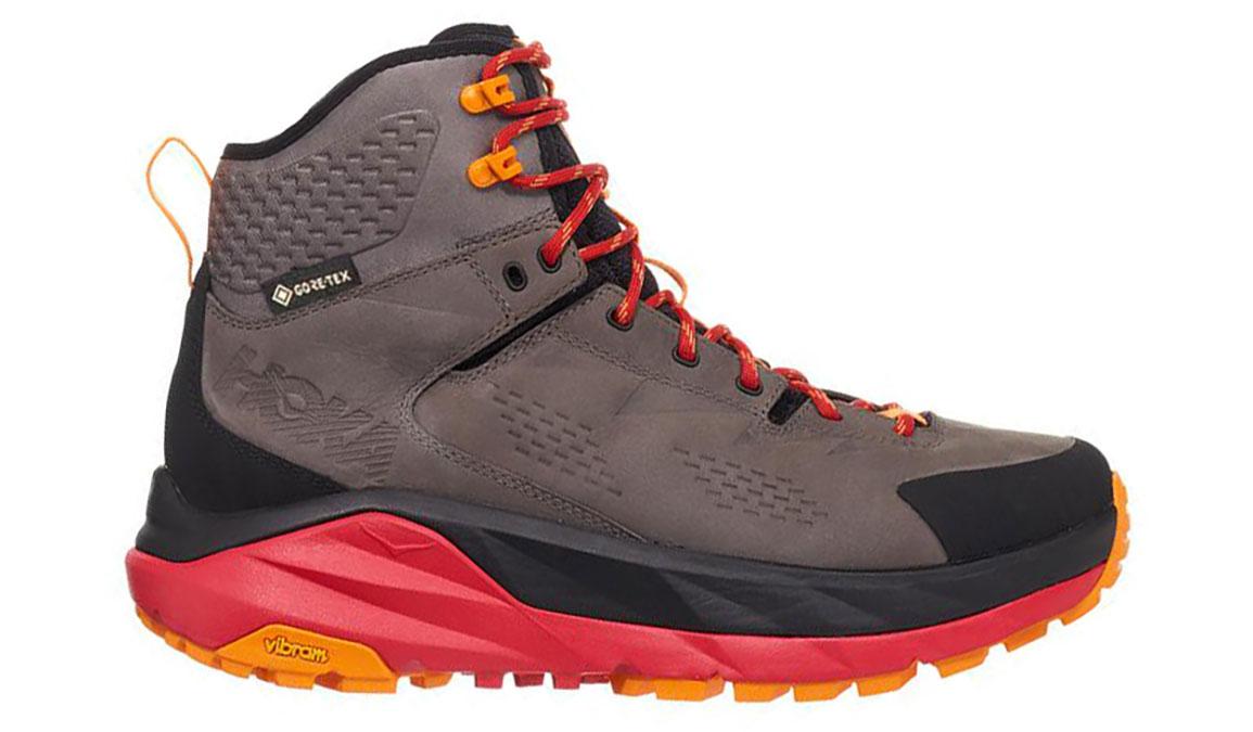 Men's Hoka One One Kaha Gore-Tex Trail Running Shoe - Color: Black/Grey (Regular Width) - Size: 9.5, Black/Grey, large, image 1