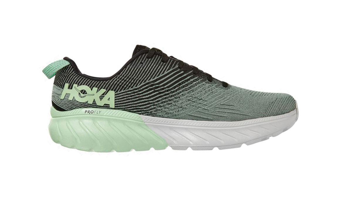 Men's Hoka One One Mach 3 Running Shoe - Color: Green Ash/Black (Regular Width) - Size: 7, Green Ash/Black, large, image 1
