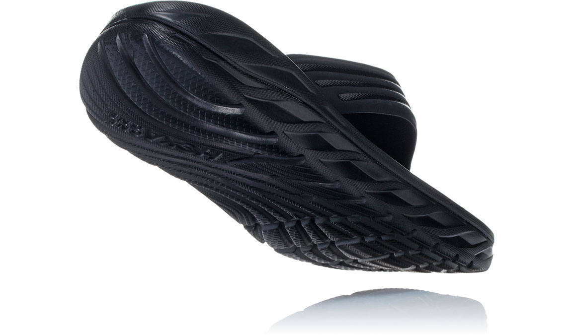 Men's Hoka One One Ora Recovery Flip 2 - Color: Black/Dark Gull Grey (Regular Width) - Size: 7, Black/Dark Gull Grey, large, image 3