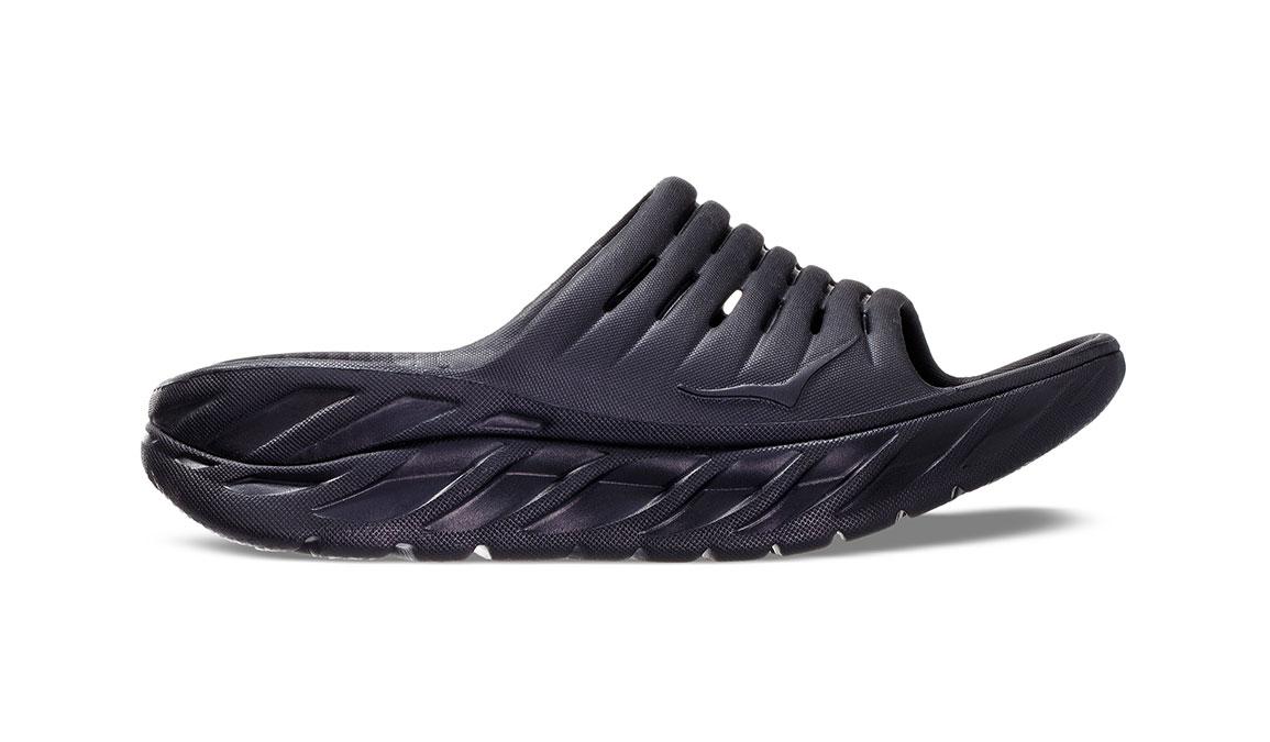 Men's Hoka One One Ora Recovery Slide 2 - Color: Black/Black (Regular Width) - Size: 7, Black/Black, large, image 1