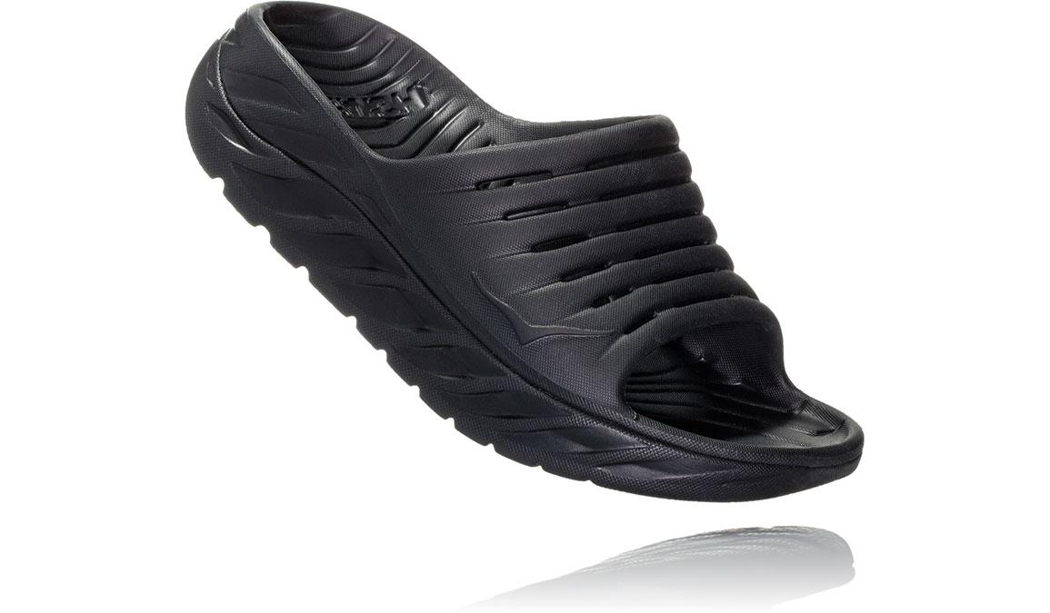 Men's Hoka One One Ora Recovery Slide 2 - Color: Black/Black (Regular Width) - Size: 7, Black/Black, large, image 2