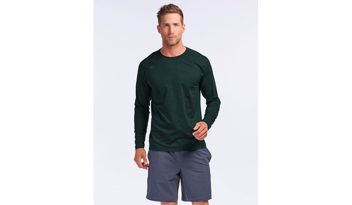 Men's Rhone Reign Long Sleeve Crew - Color: Ponderosa Pine Heather Size: S, Ponderosa Pine Heather, large, image 1