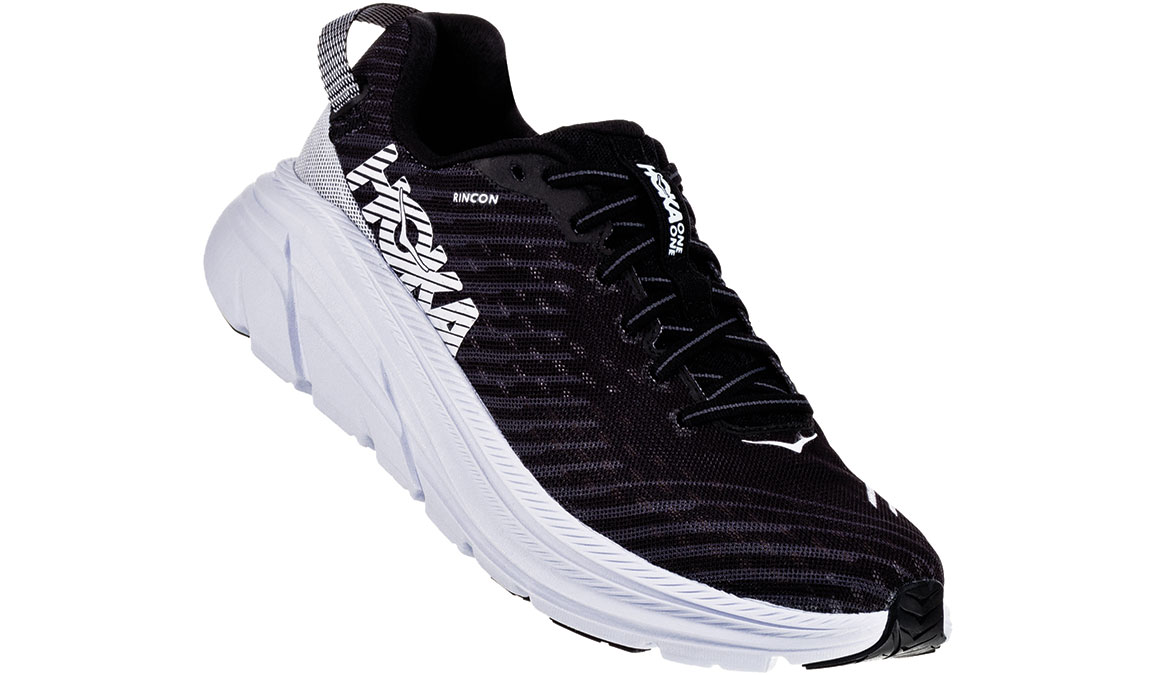 Men's Hoka One One Rincon Running Shoe - Color: Black/White (Regular Width) - Size: 7, Black/White, large, image 3