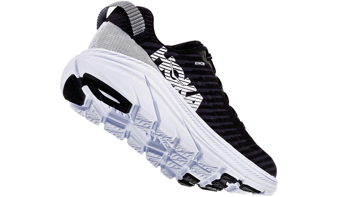 Men's Hoka One One Rincon Running Shoe - Color: Black/White (Regular Width) - Size: 7, Black/White, large, image 4