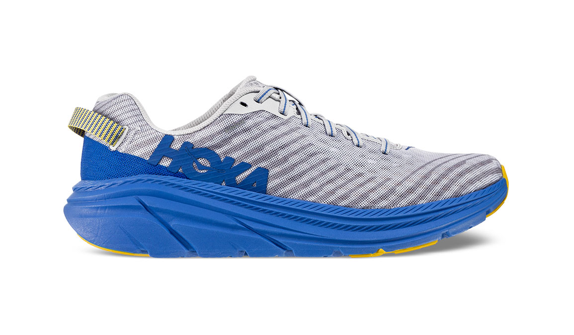 Men's Hoka One One Rincon Running Shoe - Color: Oyster Mushroom/Nebula Blue (Regular Width) - Size: 8.5, Oyster Mushroom/Nebula Blue, large, image 1