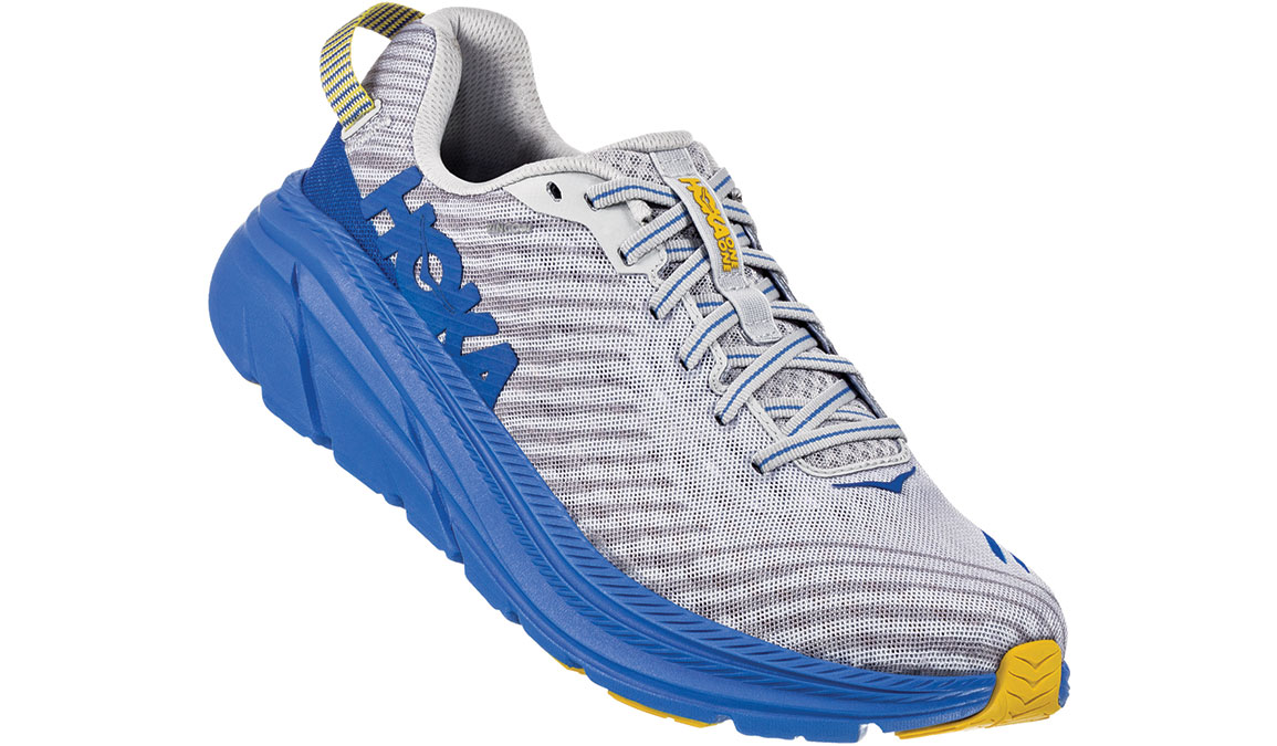 Men's Hoka One One Rincon Running Shoe - Color: Oyster Mushroom/Nebula Blue (Regular Width) - Size: 8.5, Oyster Mushroom/Nebula Blue, large, image 3