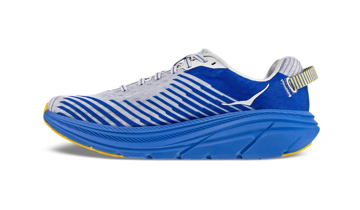 Men's Hoka One One Rincon Running Shoe - Color: Oyster Mushroom/Nebula Blue (Regular Width) - Size: 8.5, Oyster Mushroom/Nebula Blue, large, image 2