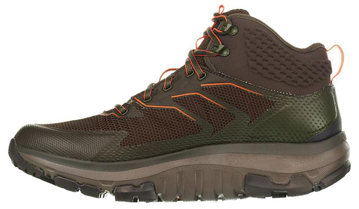 Men's Hoka One One Sky Toa Gore-Tex Trail Running Shoe - Color: Black Olive/ Orange (Regular Width) - Size: 9.5, Black Olive/Orange, large, image 2
