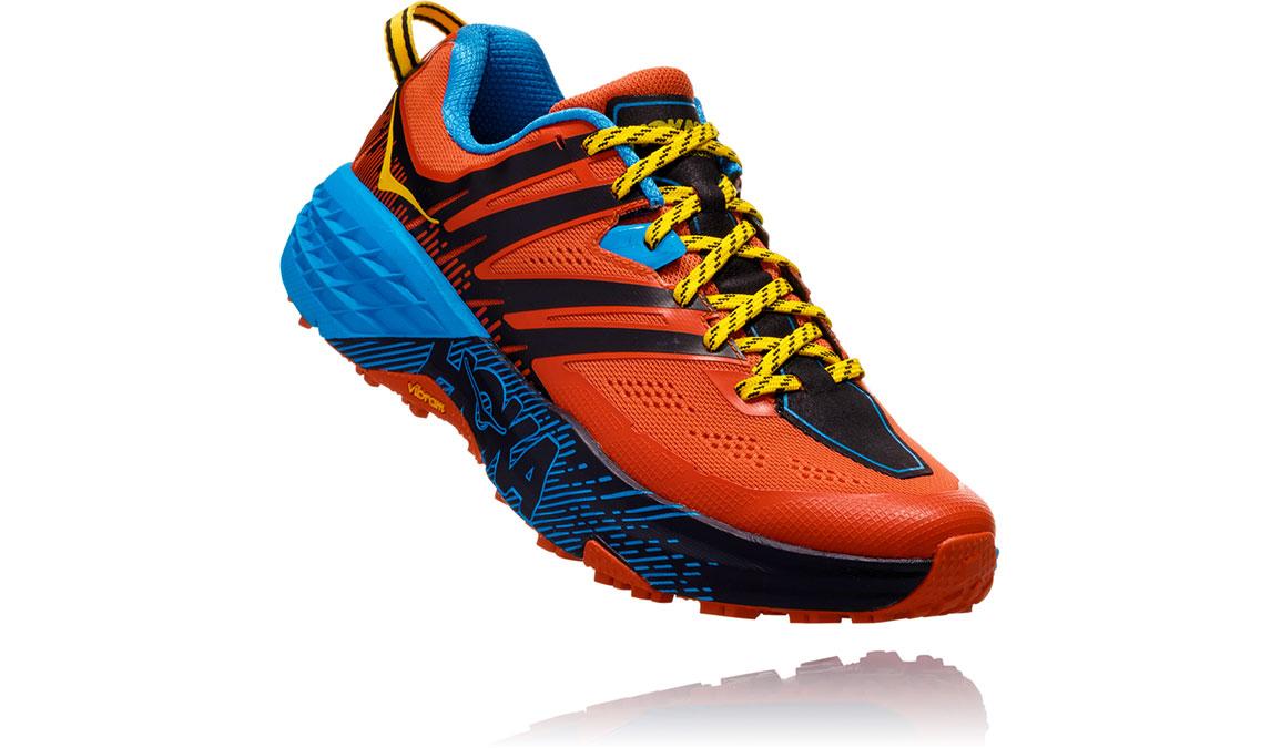 Men's Hoka One One Speedgoat 3 Trail Running Shoe - Color: Nasturtium/Spicy Orange (Regular Width) - Size: 7, Nasturtium/Spicy Orange, large, image 2