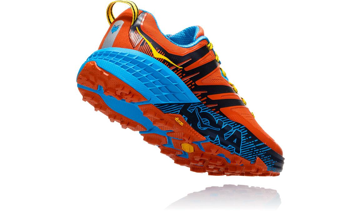 Men's Hoka One One Speedgoat 3 Trail Running Shoe - Color: Nasturtium/Spicy Orange (Regular Width) - Size: 7, Nasturtium/Spicy Orange, large, image 3