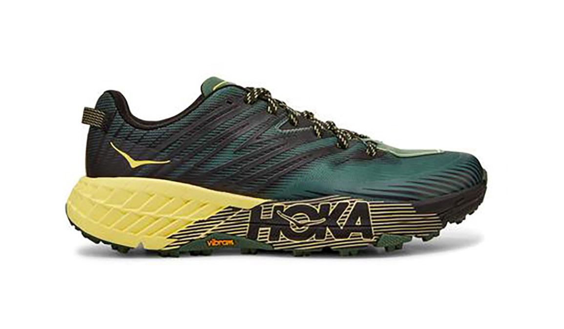 Men's Hoka One One Speedgoat 4 Trail Running Shoe - Color: Myrtle/Limelight (Regular Width) - Size: 7, Myrtle/Limelight, large, image 1