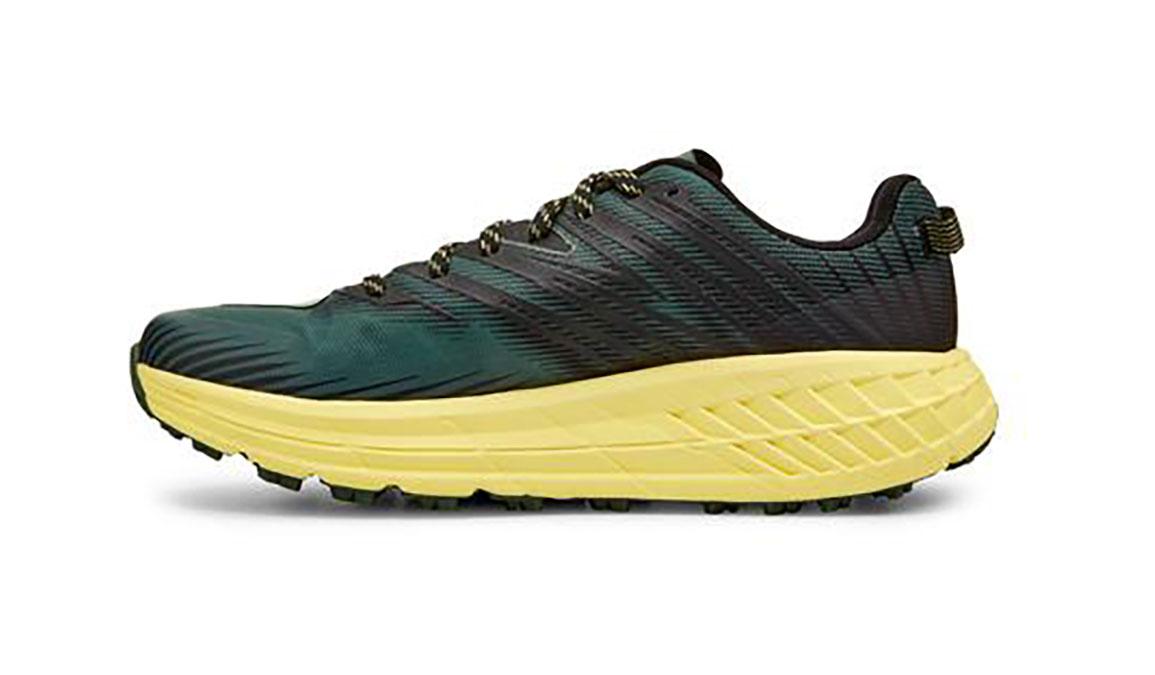 Men's Hoka One One Speedgoat 4 Trail Running Shoe - Color: Myrtle/Limelight (Regular Width) - Size: 7, Myrtle/Limelight, large, image 2