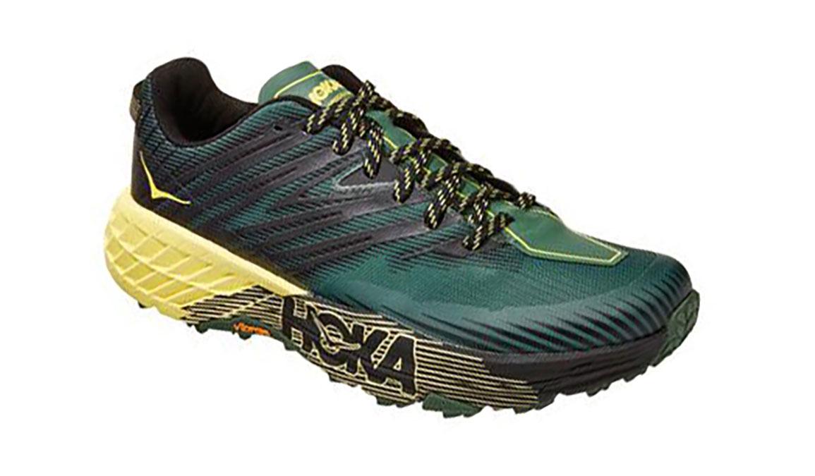 Men's Hoka One One Speedgoat 4 Trail Running Shoe - Color: Myrtle/Limelight (Regular Width) - Size: 7, Myrtle/Limelight, large, image 4
