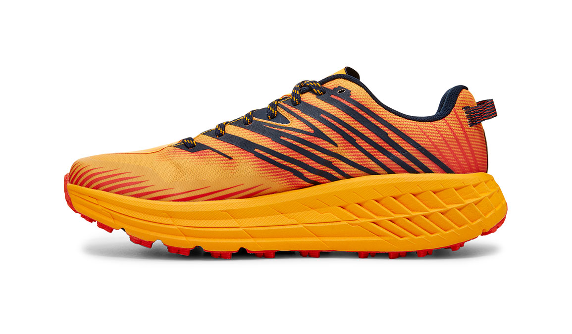 Men's Hoka One One Speedgoat 4 Trail Running Shoe - Color: Gold Fusion/Black Iris (Regular Width) - Size: 7, Gold Fusion/Black Iris, large, image 2