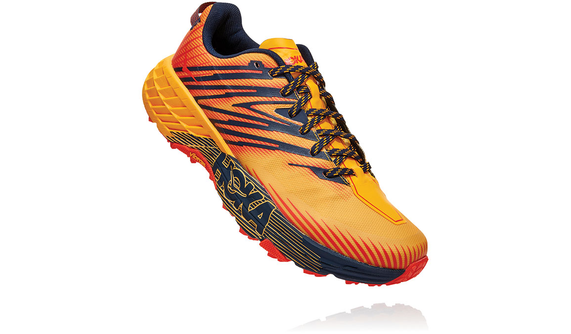Men's Hoka One One Speedgoat 4 Trail Running Shoe - Color: Gold Fusion/Black Iris (Regular Width) - Size: 7, Gold Fusion/Black Iris, large, image 3