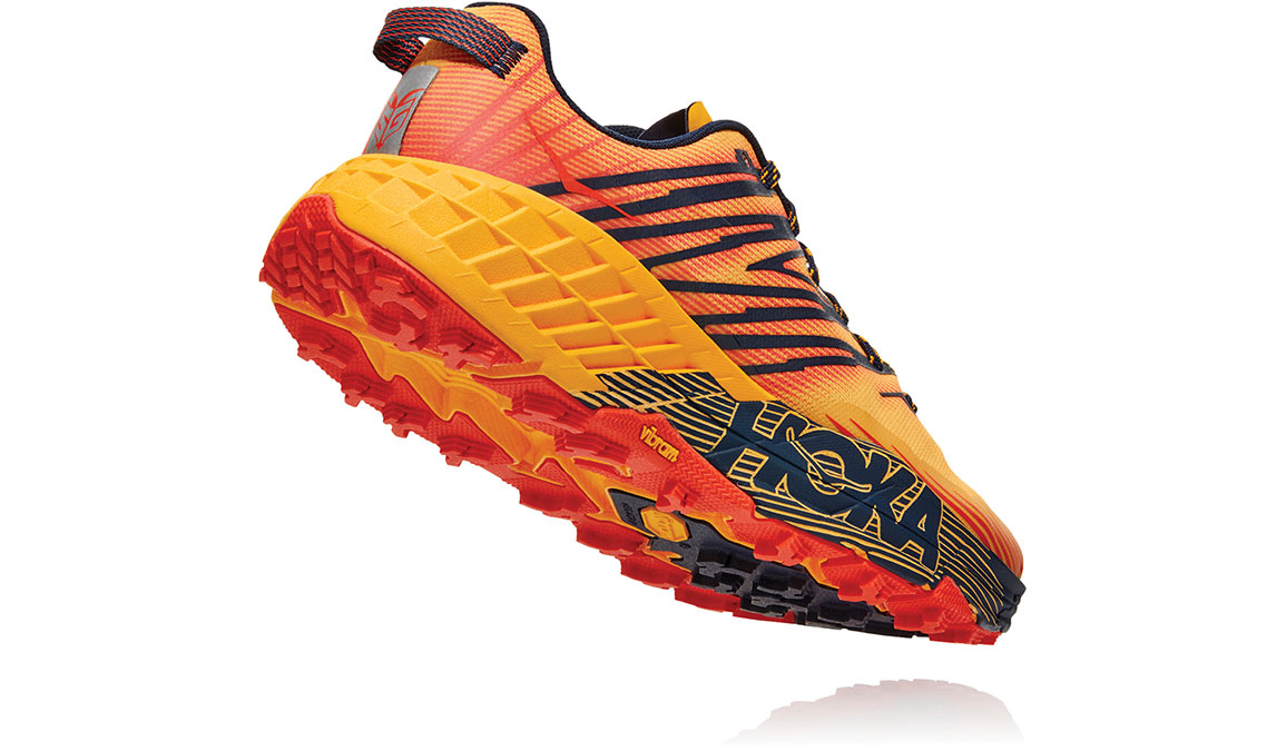 Men's Hoka One One Speedgoat 4 Trail Running Shoe - Color: Gold Fusion/Black Iris (Regular Width) - Size: 7, Gold Fusion/Black Iris, large, image 4