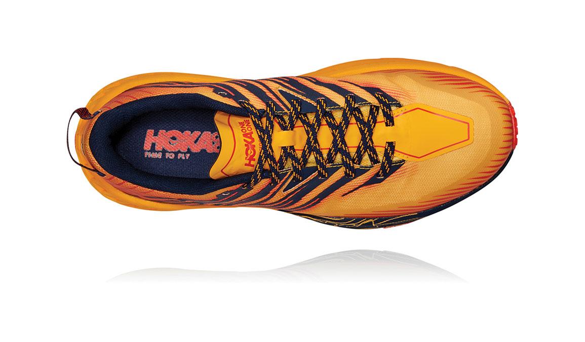 Men's Hoka One One Speedgoat 4 Trail Running Shoe - Color: Gold Fusion/Black Iris (Regular Width) - Size: 7, Gold Fusion/Black Iris, large, image 5