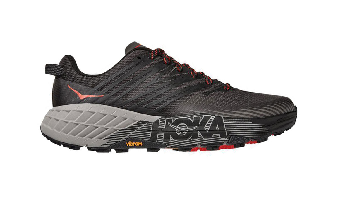 Men's Hoka One One Speedgoat 4 Wide Trail Running Shoe - Color: Dark Gull Grey/Anthracite (Wide Width) - Size: 8.5, Dark Gull Grey/Anthracite, large, image 1