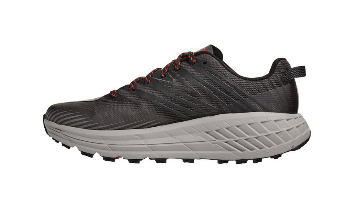 Men's Hoka One One Speedgoat 4 Wide Trail Running Shoe - Color: Dark Gull Grey/Anthracite (Wide Width) - Size: 8.5, Dark Gull Grey/Anthracite, large, image 2