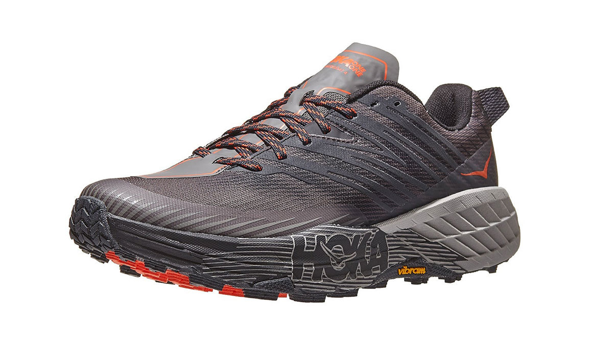 Men's Hoka One One Speedgoat 4 Wide Trail Running Shoe - Color: Dark Gull Grey/Anthracite (Wide Width) - Size: 8.5, Dark Gull Grey/Anthracite, large, image 4