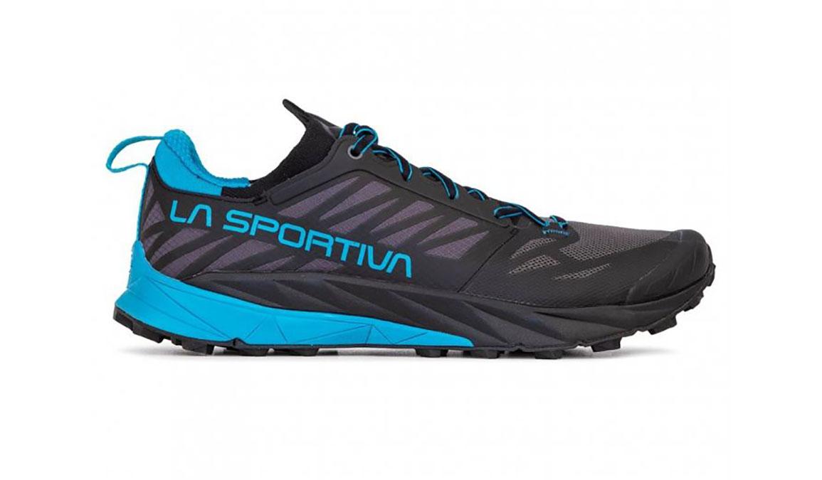Men's La Sportiva Kaptiva Trail Running Shoe - Color: Carbon/Tropical Blue (Regular Width) - Size: 12, Grey/Blue, large, image 1