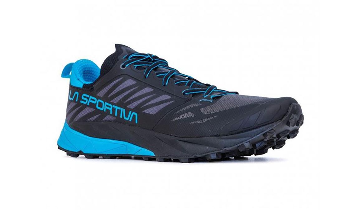 Men's La Sportiva Kaptiva Trail Running Shoe - Color: Carbon/Tropical Blue (Regular Width) - Size: 12, Grey/Blue, large, image 2