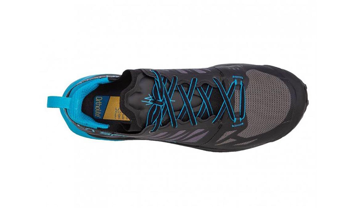 Men's La Sportiva Kaptiva Trail Running Shoe - Color: Carbon/Tropical Blue (Regular Width) - Size: 12, Grey/Blue, large, image 3