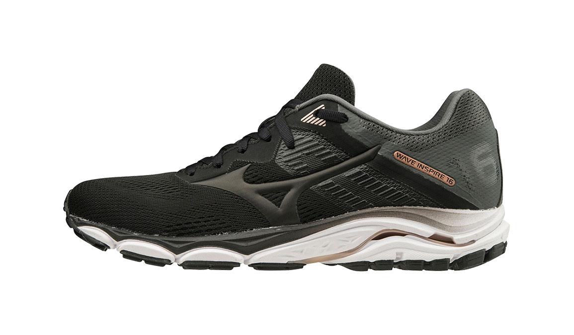 Men's Mizuno Wave Inspire 16 Running Shoe - Color: Black (Regular Width) - Size: 8.5, Black, large, image 3