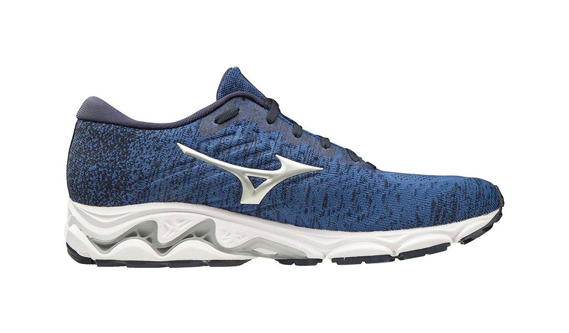 Men's Mizuno Wave Inspire 16 Waveknit Running Shoe - Color: Skydiver/Silver (Regular Width) - Size: 7, Skydiver/Silver, large, image 1