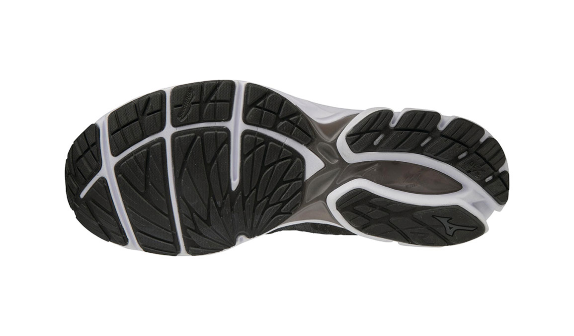 Men's Mizuno Wave Rider Waveknit 3 Running Shoe - Color: Black/Dark Shadow (Regular Width) - Size: 8, Black/Dark Shadow, large, image 4