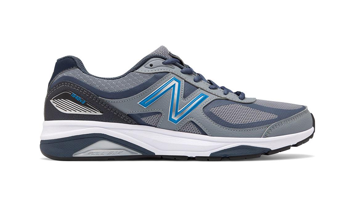 Men's New Balance 1540v3 Walking Shoe - Color: Marblehead/Black (Wide Width) - Size: 8.5, Blue/Black, large, image 1