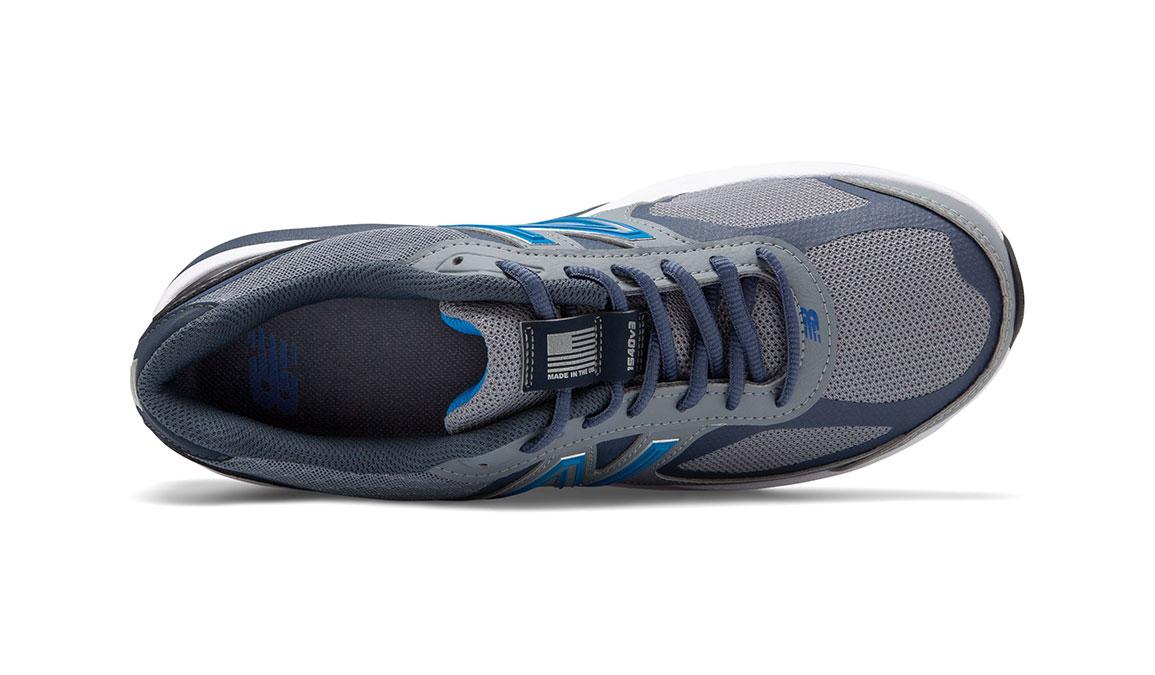 Men's New Balance 1540v3 Walking Shoe - Color: Marblehead/Black (Wide Width) - Size: 8.5, Blue/Black, large, image 3