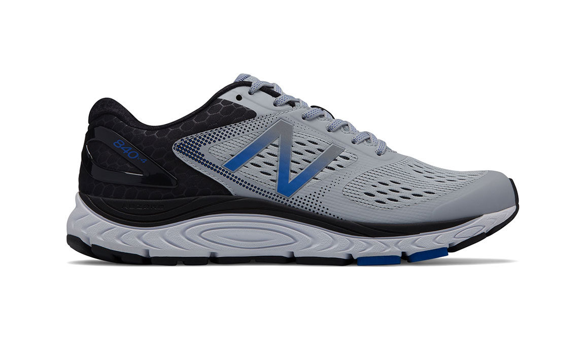 Men's New Balance 840v4 Running Shoe - Color: Silver Mink/Team Blue (Regular Width) - Size: 9.5, Silver/Blue, large, image 1