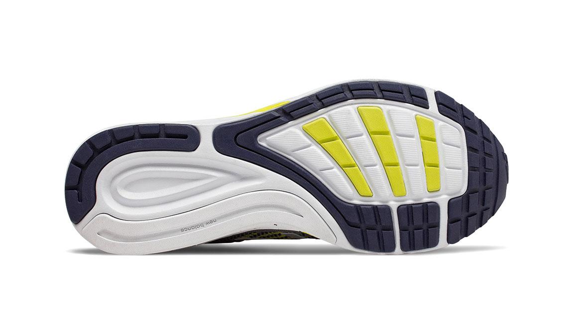 Men's New Balance 870v5 Running Shoe - Color: Gunmetal/Sulphur Yellow (Regular Width) - Size: 6.5, Grey/Yellow, large, image 4