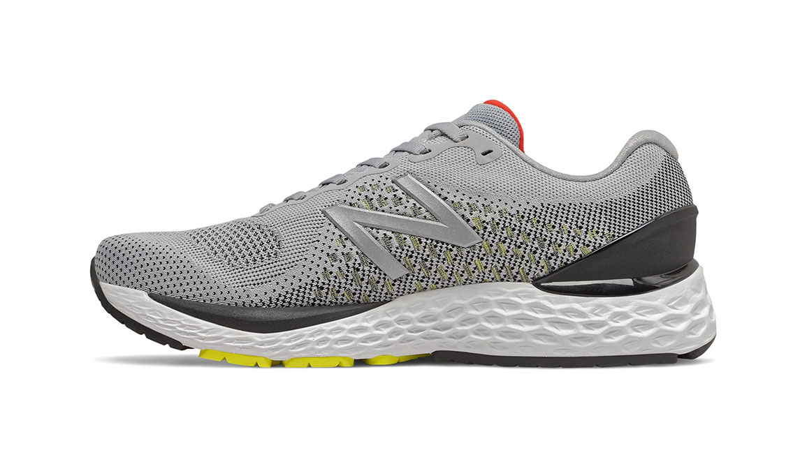 Men's New Balance 880v10 Running Shoe - Color: Silver Mink/Lemon Slush (Wide Width) - Size: 7, Silver/Yellow, large, image 2