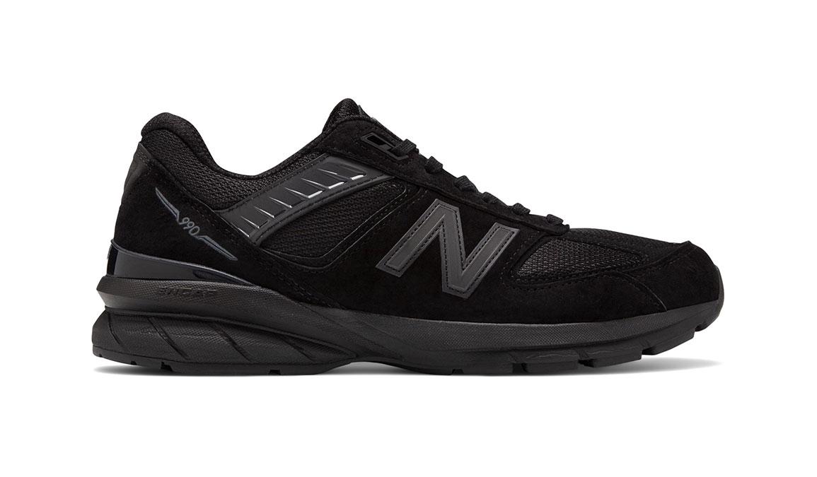 Men's New Balance 990v5 Running Shoe - Color: Black (Regular Width) - Size: 6, Black, large, image 1