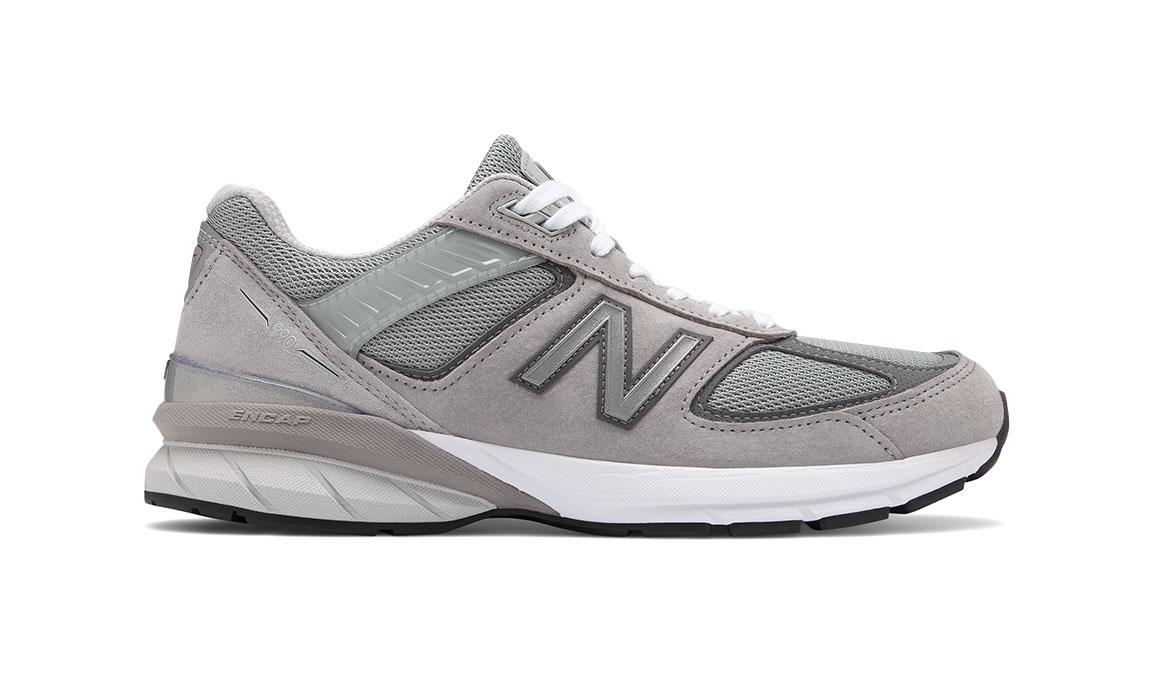 Men's New Balance 990v5 Running Shoe - Color: Grey/Castlerock (Regular Width) - Size: 13, Grey, large, image 1