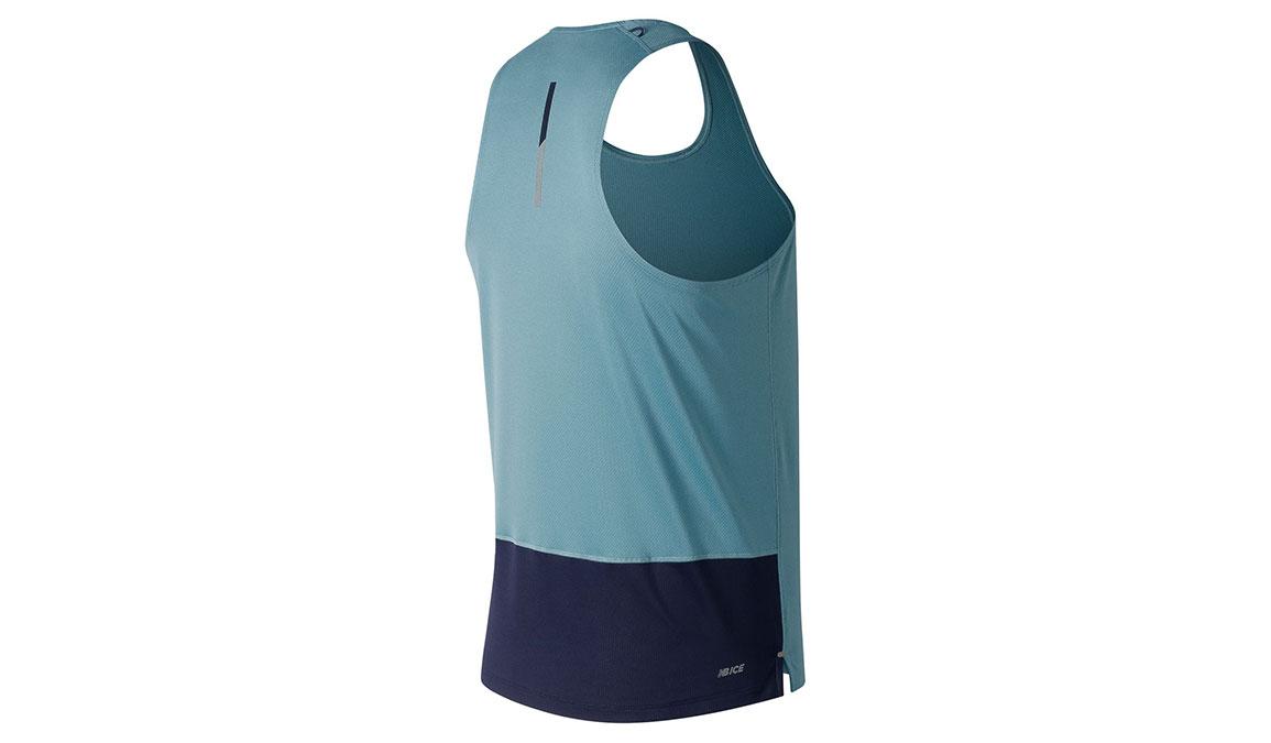 Men's New Balance Ice 2.0 Short Sleeve - Color: Bluefog Size: M, Blue, large, image 2